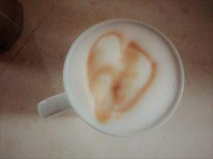 Filiżanka kawy z sercem
