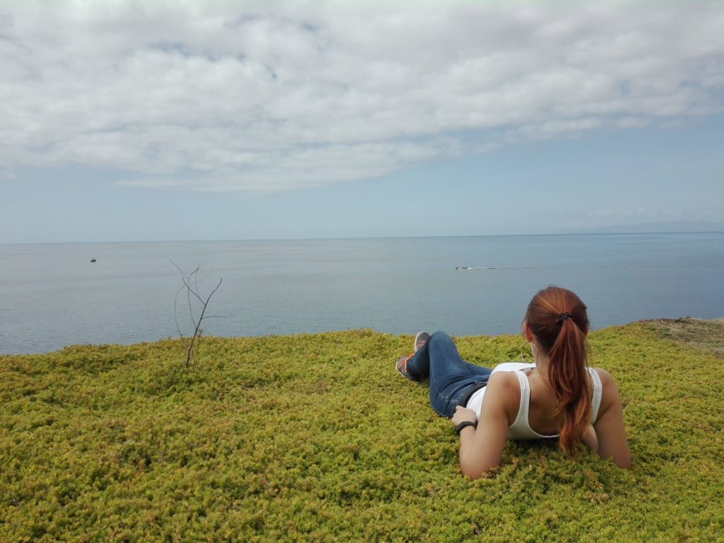 Terceira, Cinco Ribeiras, ocean, klif, widok na ocean, fot. Katarzyna Ryczko