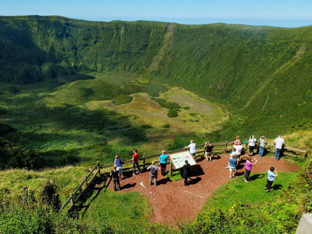 Azory, Azores, Faial, kaldera, caldera, caldeira