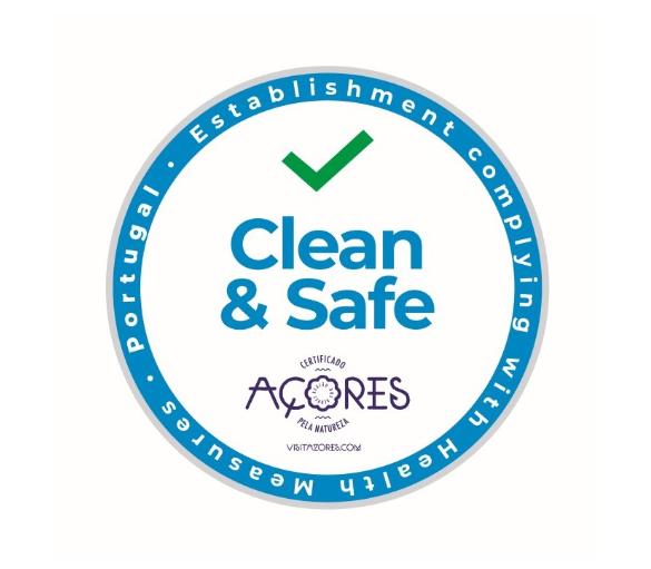 Clean & Safe Açores, Clean & Safe, clean, safe, Azores, certyfikat, certificate, znak, stamp, sign